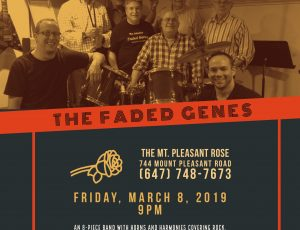 See the The Faded Genes Live at The Mount Pleasant Rose